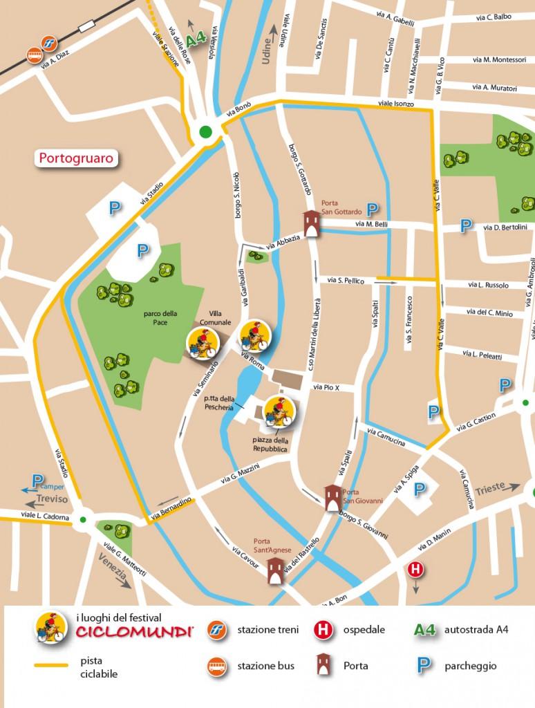 cartina centro portogruaro 148x200